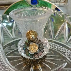 Hand Crafted Czech Crystal Small Vase